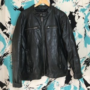Vtg 2000s Faux Leather Jacket by Guess